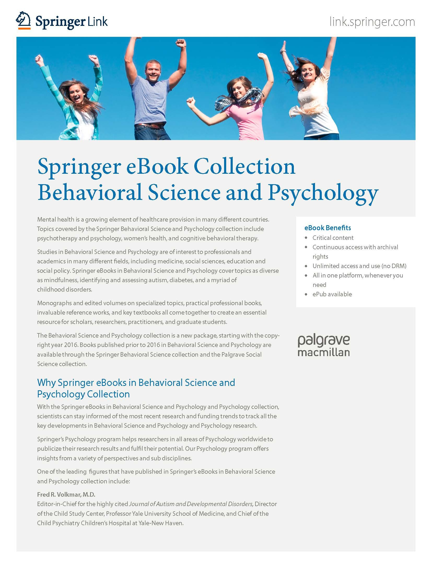 eBooks collection Behavioral Science & Psychology