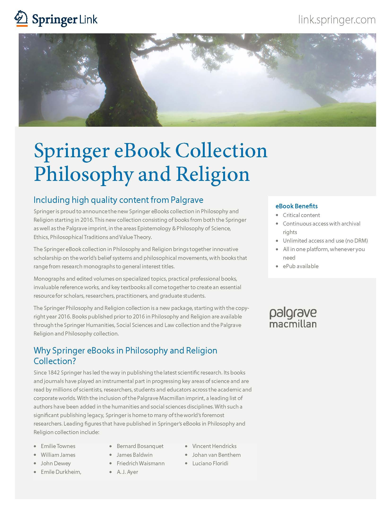 eBooks collection Philosophy & Religion