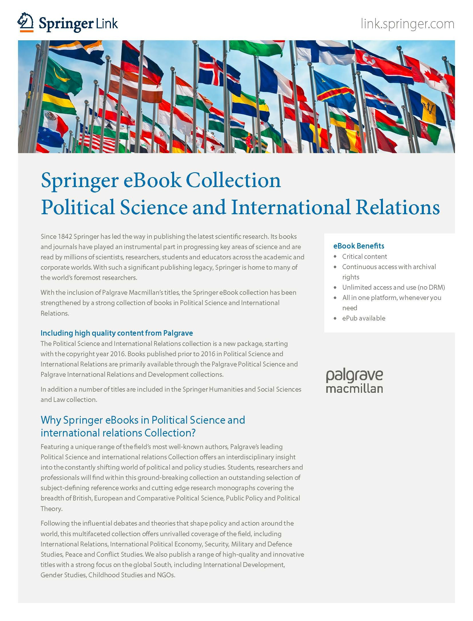 eBooks collection Political Science & International Studies
