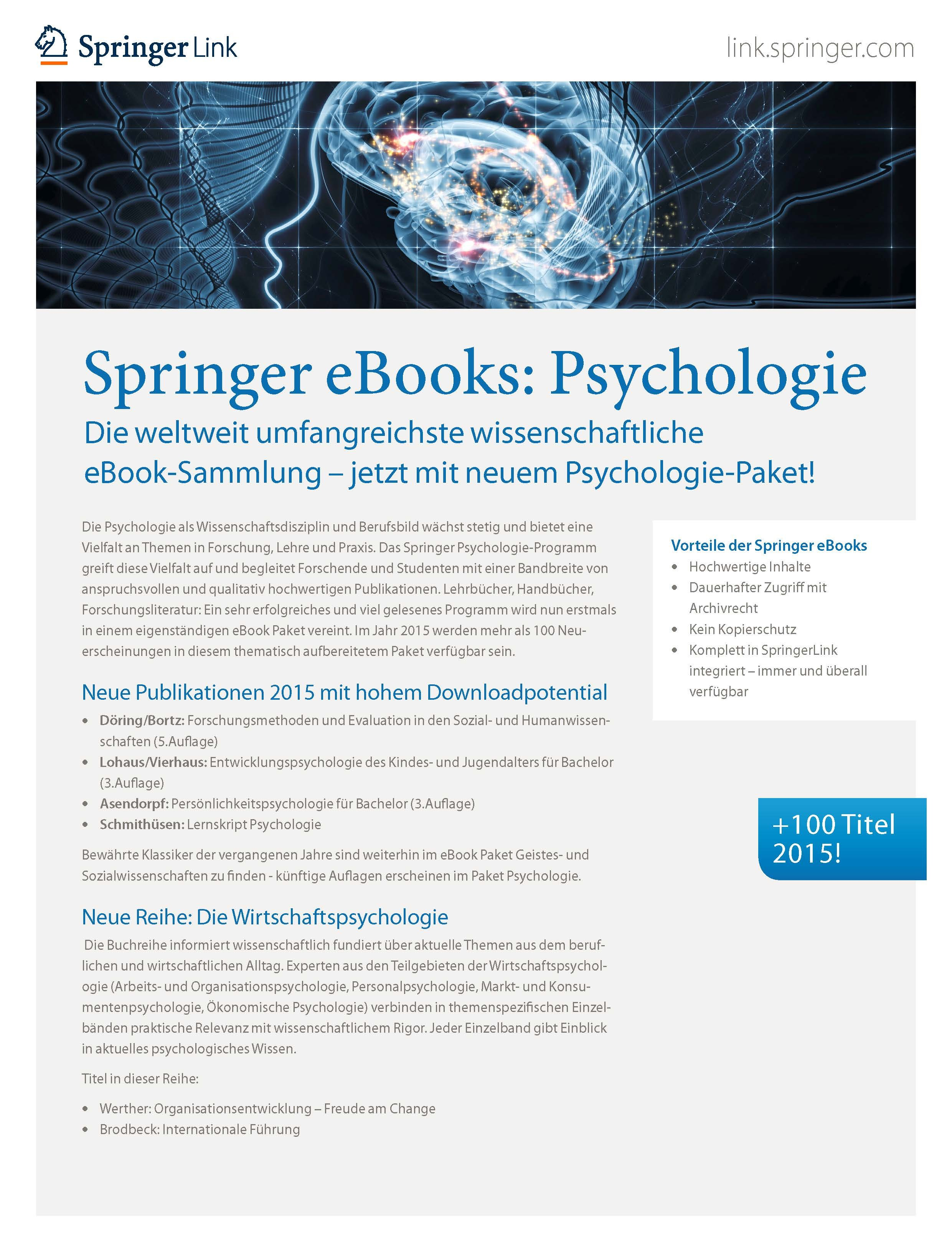 Ebook collections springernature for librarians springer nature psychologie fandeluxe Images