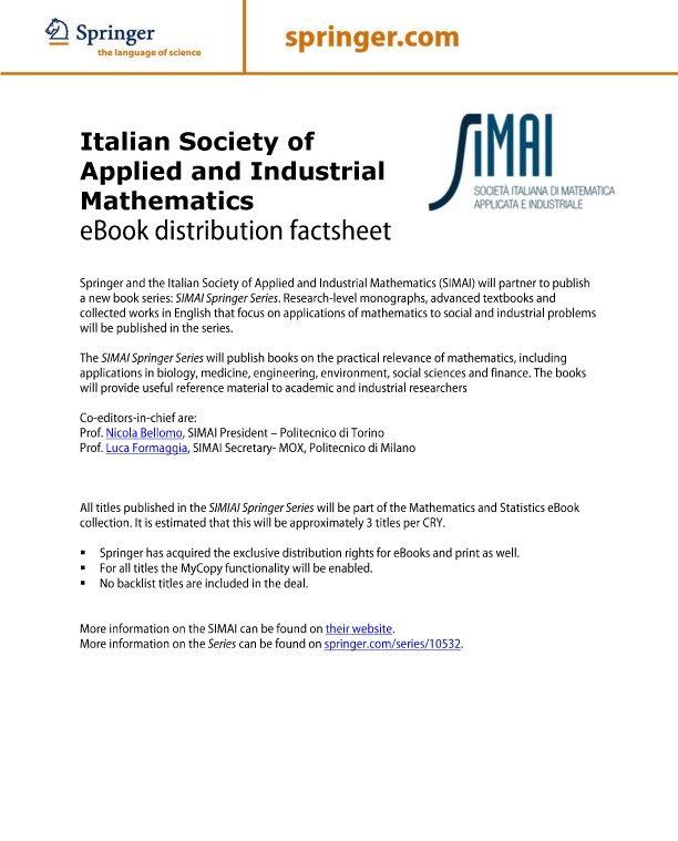 Ebook collections springernature for librarians springer nature italian society of applied and industrial mathematics fandeluxe Images