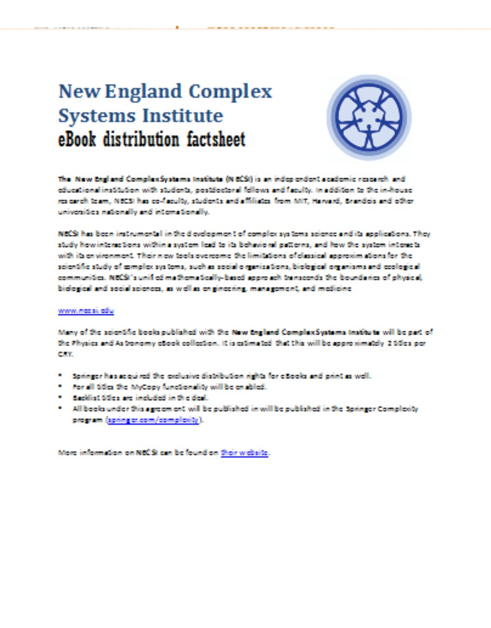 New England Complex Systems Institute