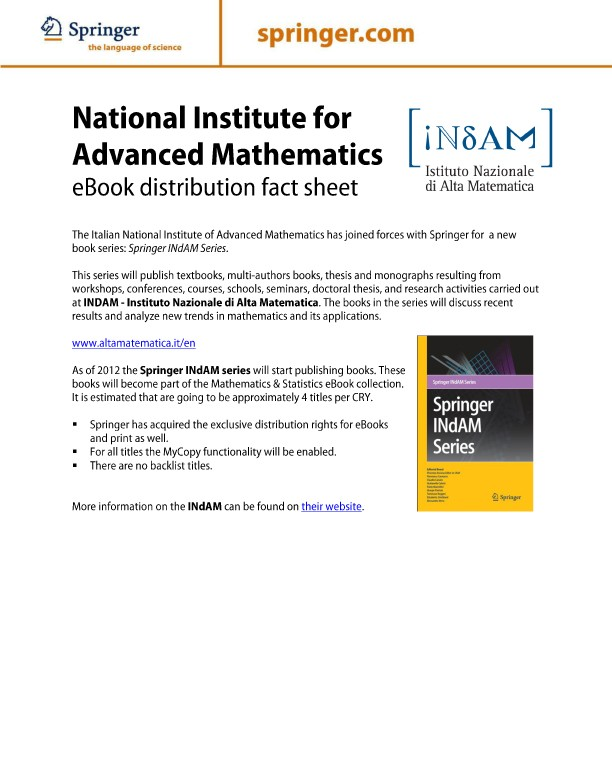 Ebook collections springernature for librarians springer nature instituto nazionale di alta matematica fandeluxe Images