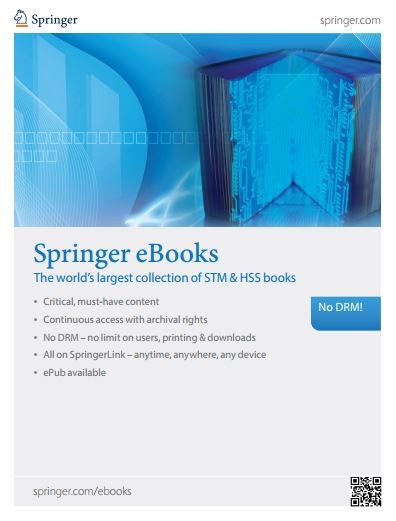 Springer eBooks overview brochure