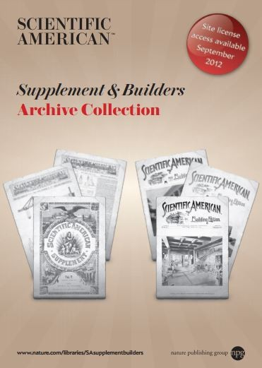 Scientific American Supplements & Builders Archive collection