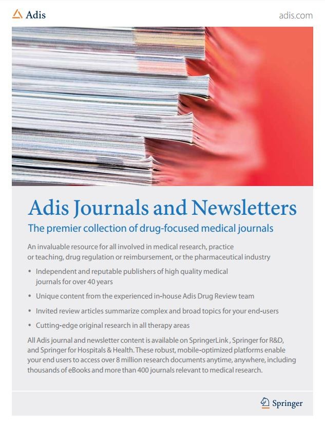 Adis Journals brochure