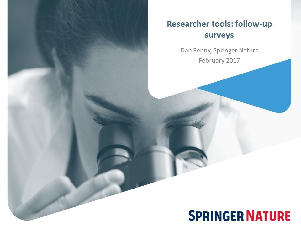 Researcher tools: Follow up survey - Dan Penny (Springer Nature)