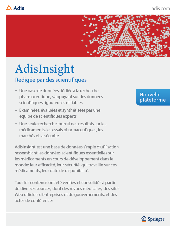AdisInsight - Redigée par des scientifiques