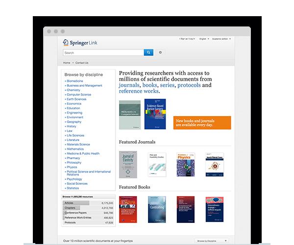 Browse SpringerLink