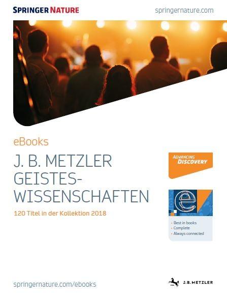 J. B. Metzler Geisteswissenschaften eBooks Broschüre 2018