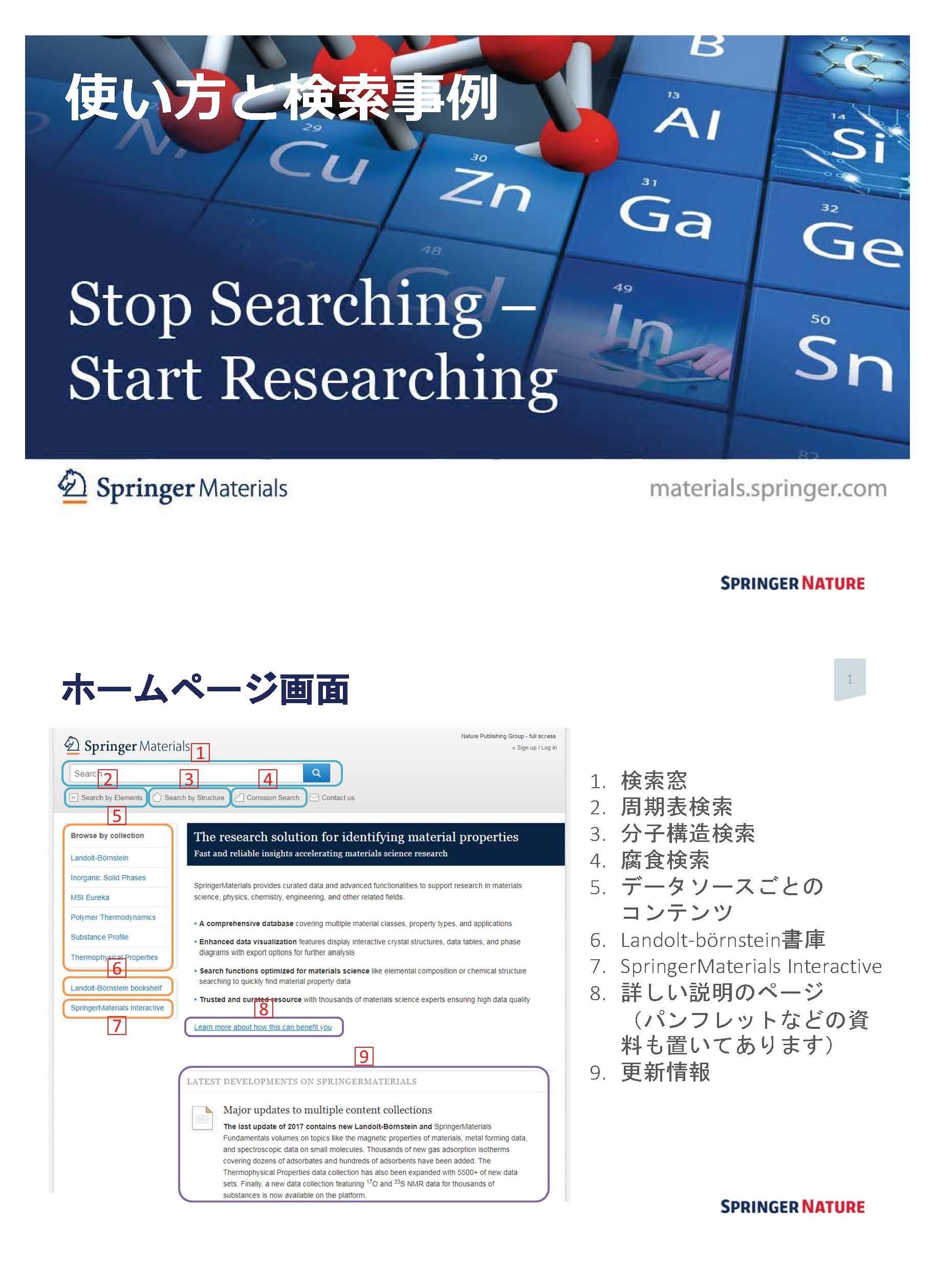SpringerMaterials検索事例