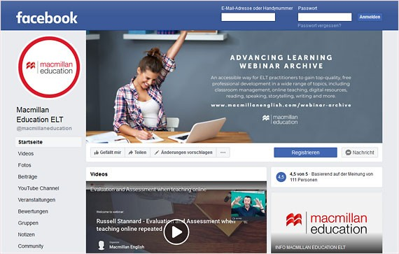 Facebook Macmillan Education © Springer Nature