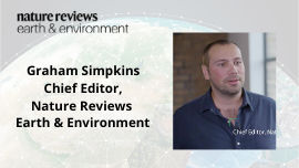 Graham Simpkins Chief Editor, Nature Reviews Earth & Environment