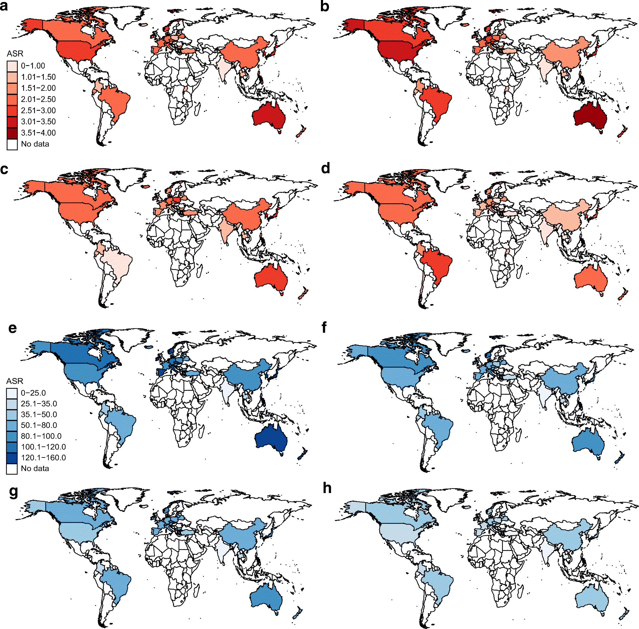 Figure 1 International Incidence Trends In Early And Late Onset Colorectal Cancer A Population Based Study Springerlink