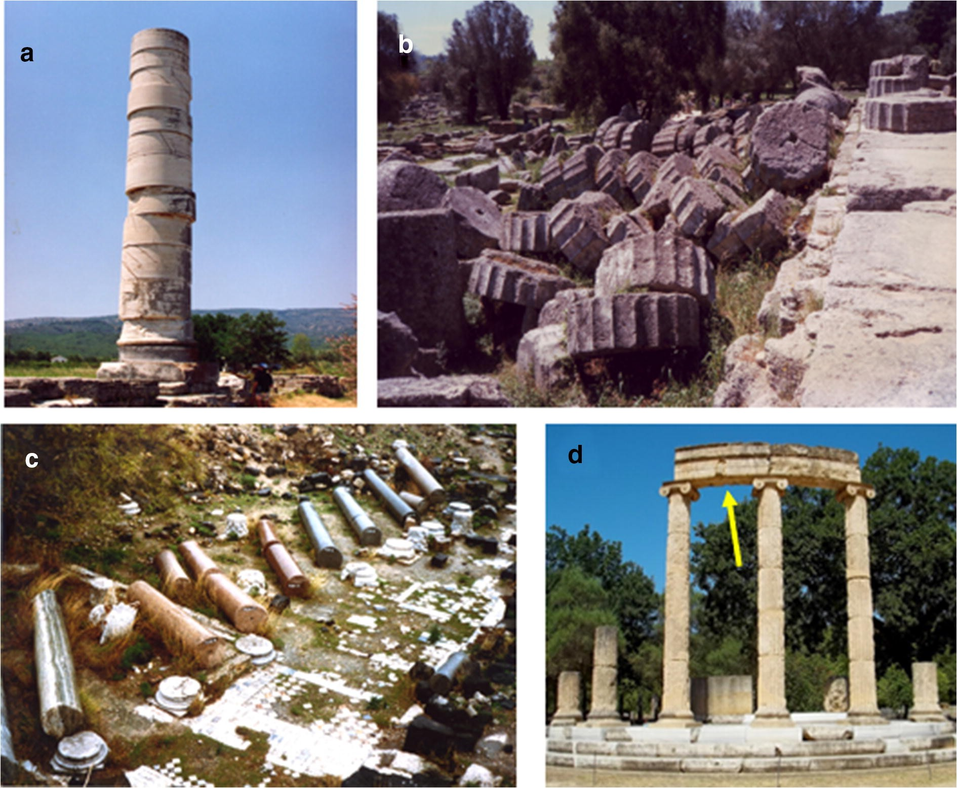 Figure 2 Monumental Articulated Ancient Greek And Roman Columns And Temples And Earthquakes Archaeological Historical And Engineering Approaches Springerlink