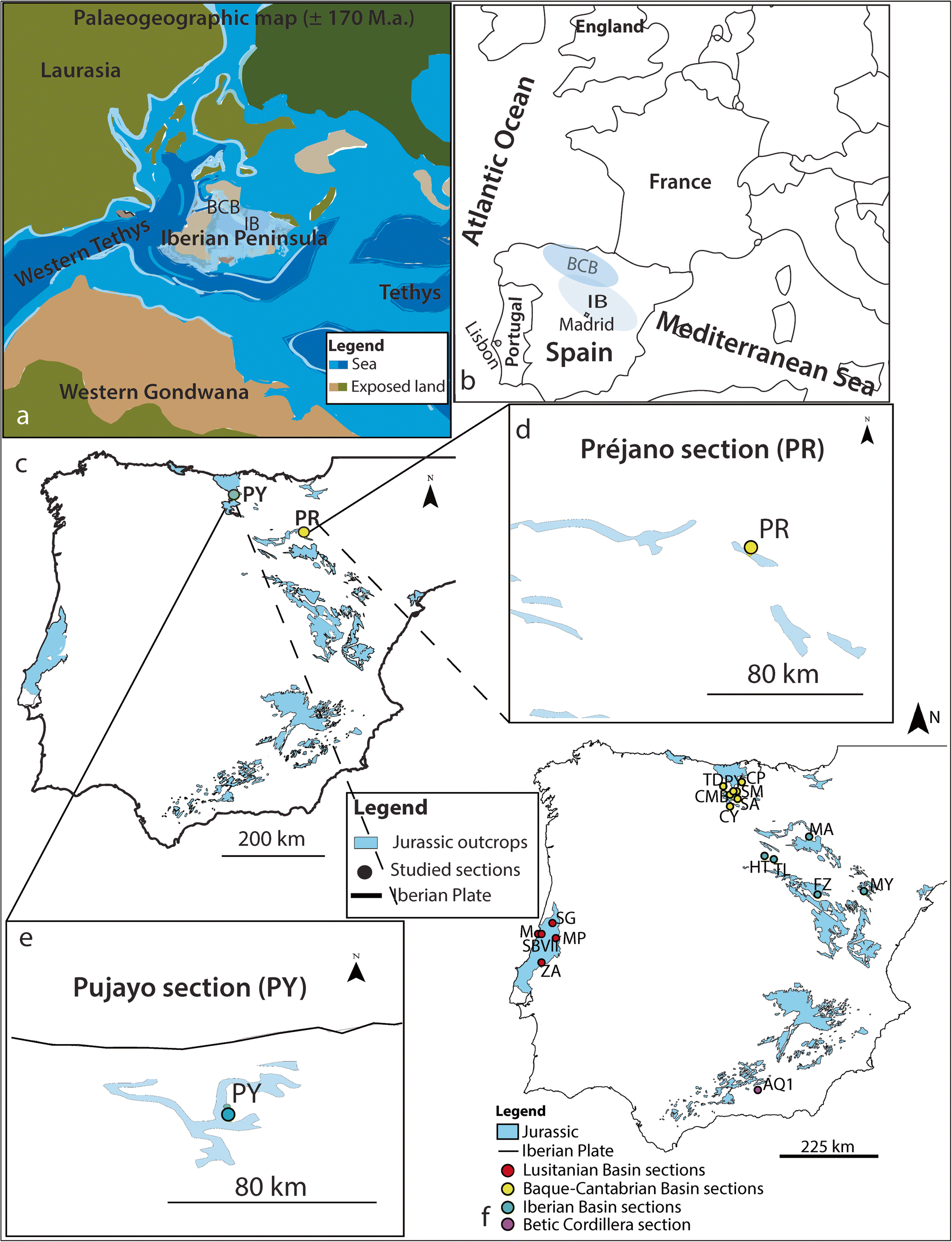 Image of: Figure 1 Benthic Foraminiferal Assemblages Across The Aalenian Bajocian Boundary In The Iberian And Basque Cantabrian Basins North Spain Springerlink
