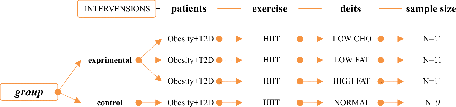 Diets along with interval training regimes improves