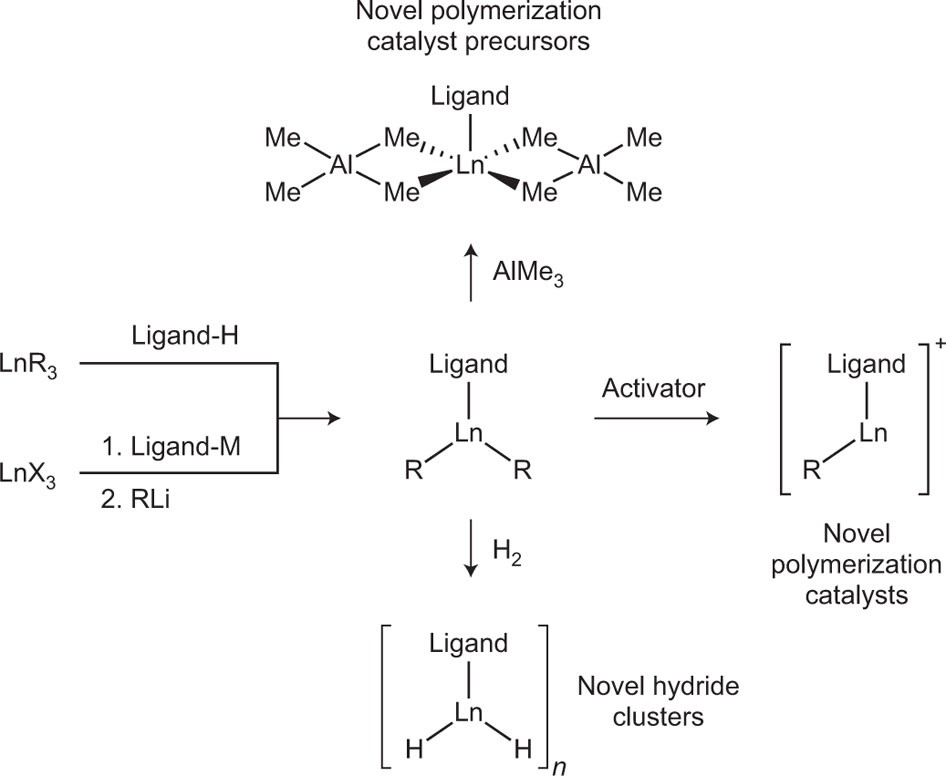 Novel Polymerization Catalysts And Hydride Clusters From Rare