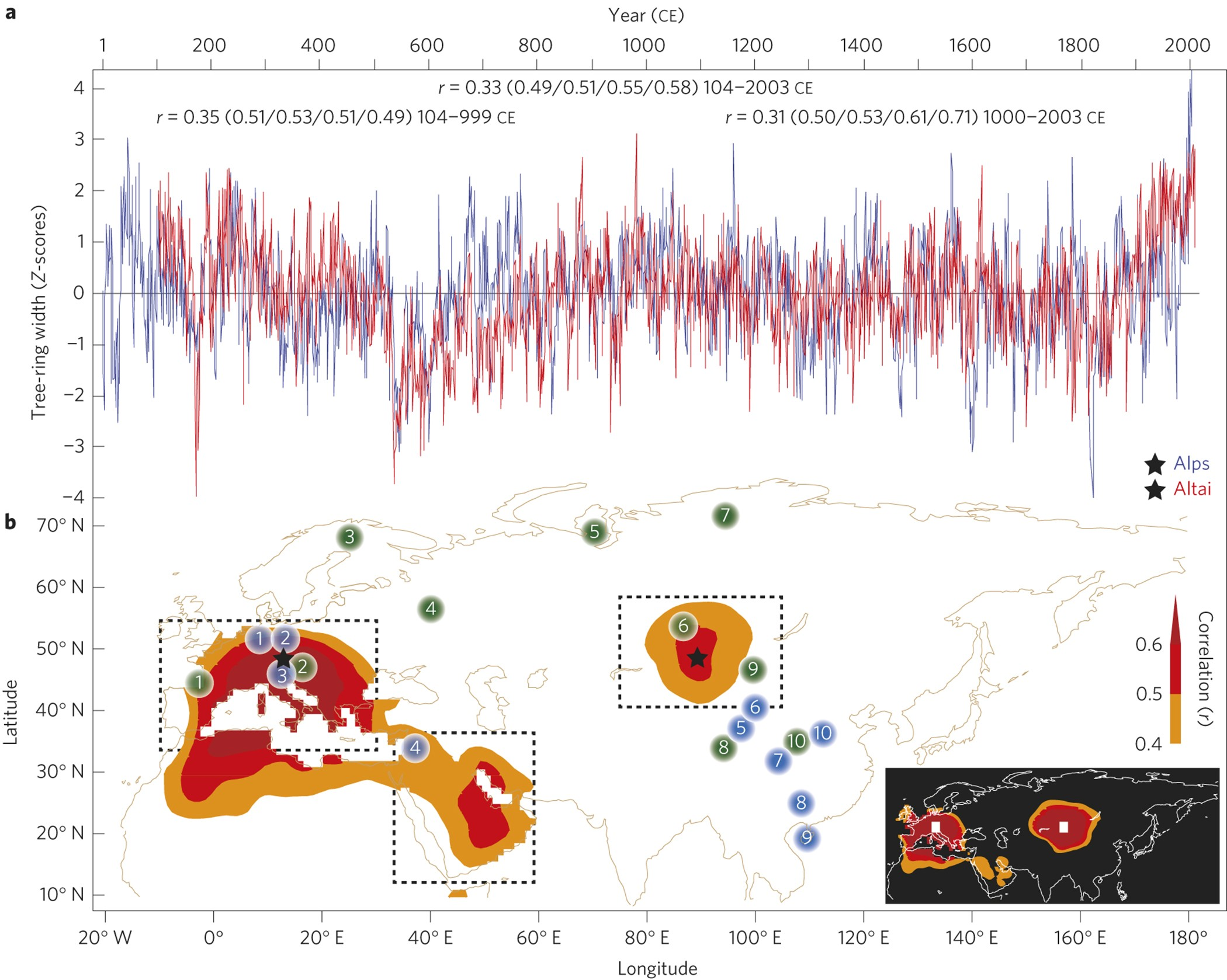 Cooling and societal change during the Late Antique Little Ice Age fro