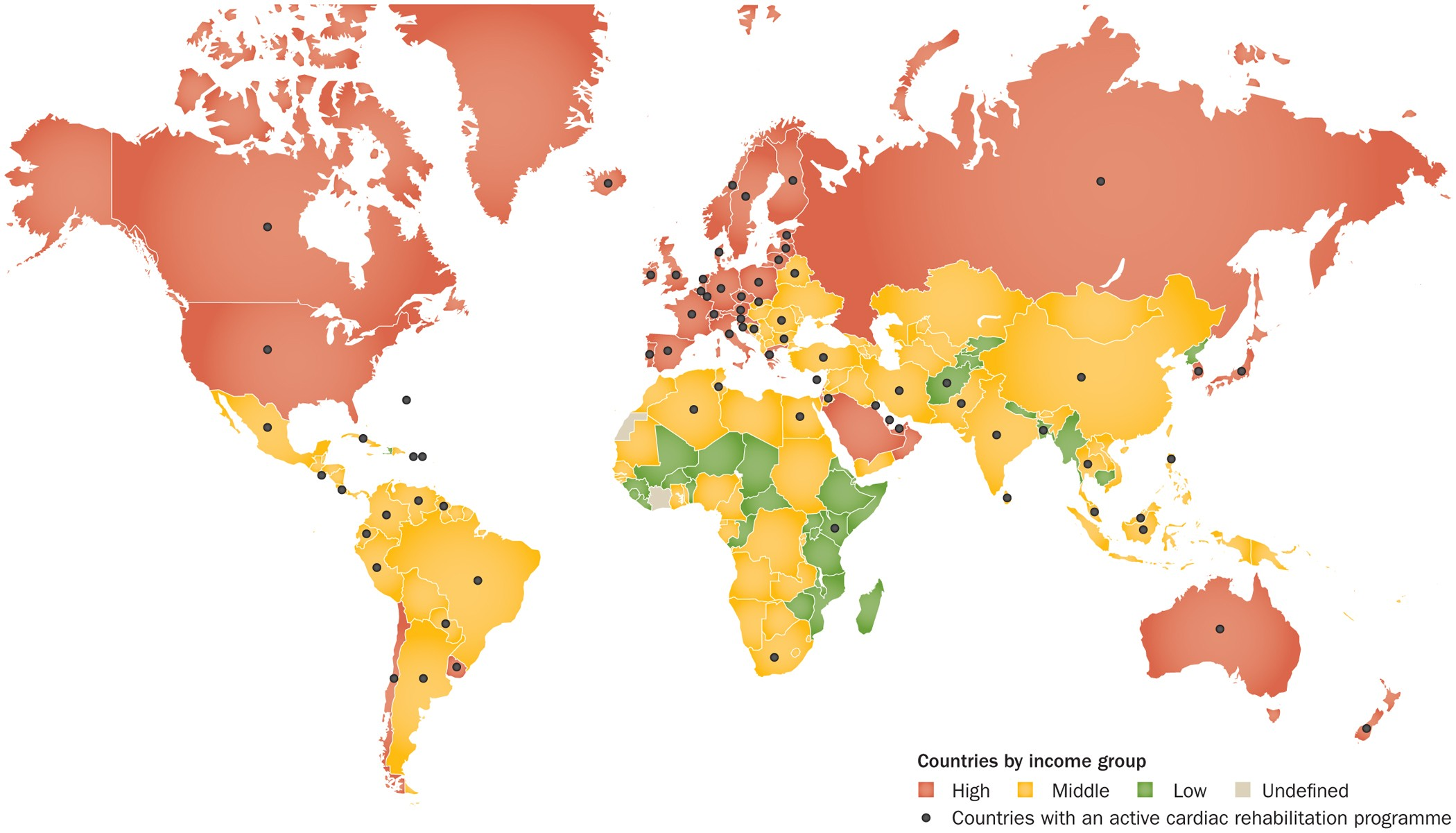 Global availability of cardiac rehabilitation | Nature