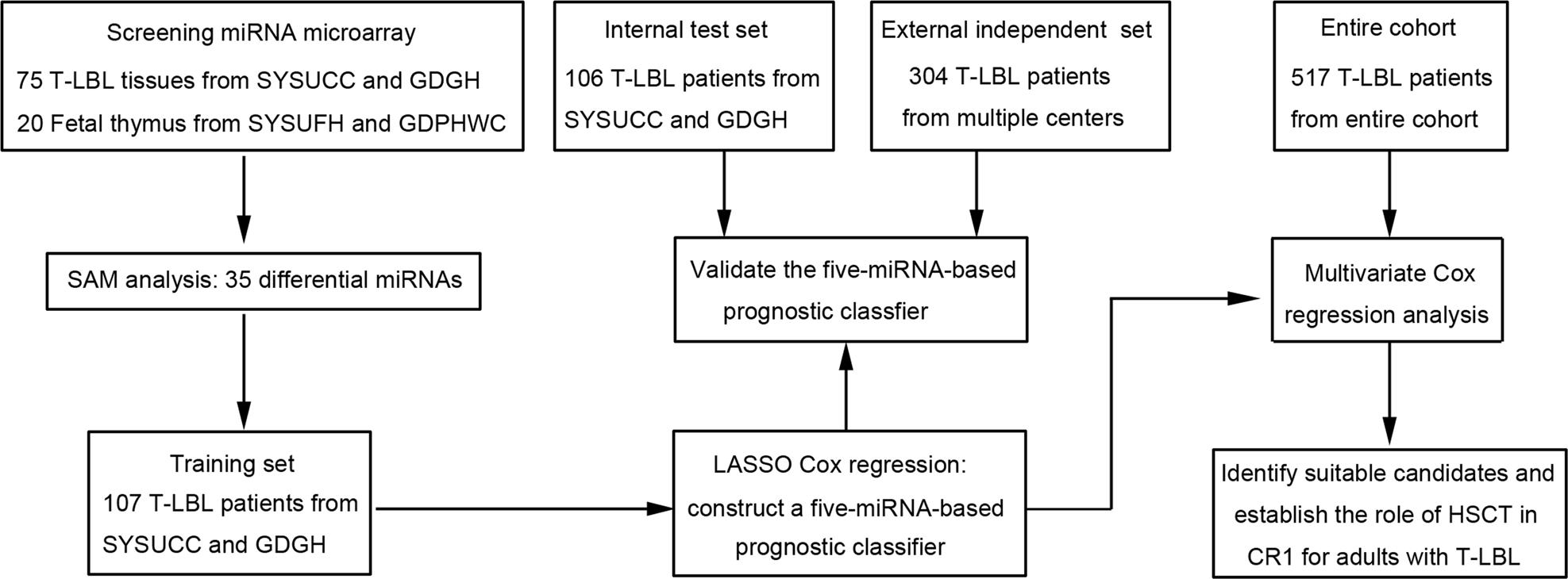 Prognostic and predictive value of a microRNA signature in adults
