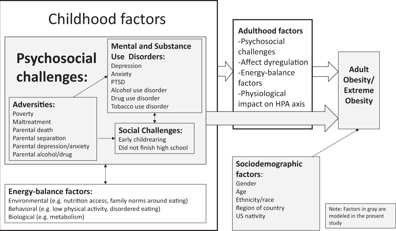 Poverty Linked To Childhood Depression >> Childhood Psychosocial Challenges And Risk For Obesity In U S Men
