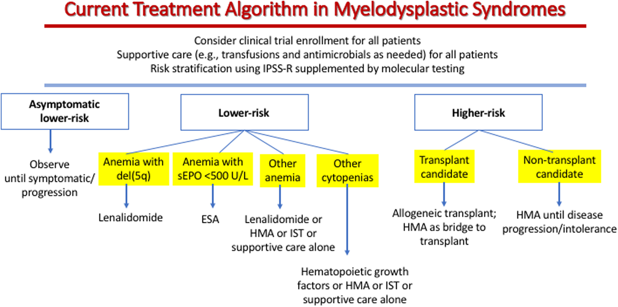 What Is Mds >> Myelodysplastic Syndromes Current Treatment Algorithm 2018