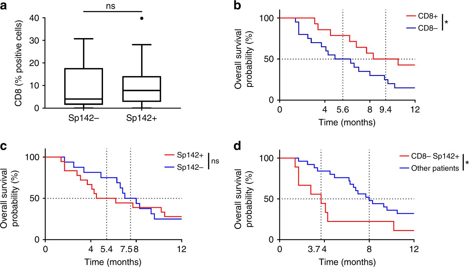 Prognostic and predictive role of CD8 and PD-L1 determination in