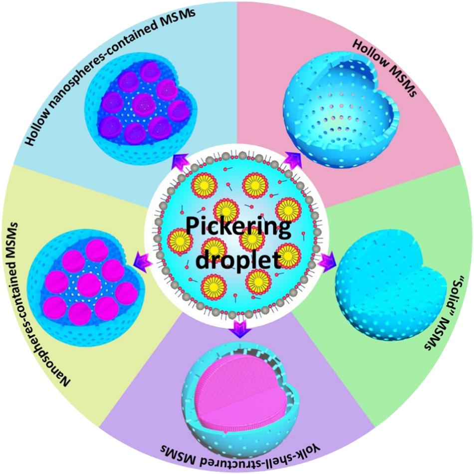 Fabrication of multi-compartmentalized mesoporous silica