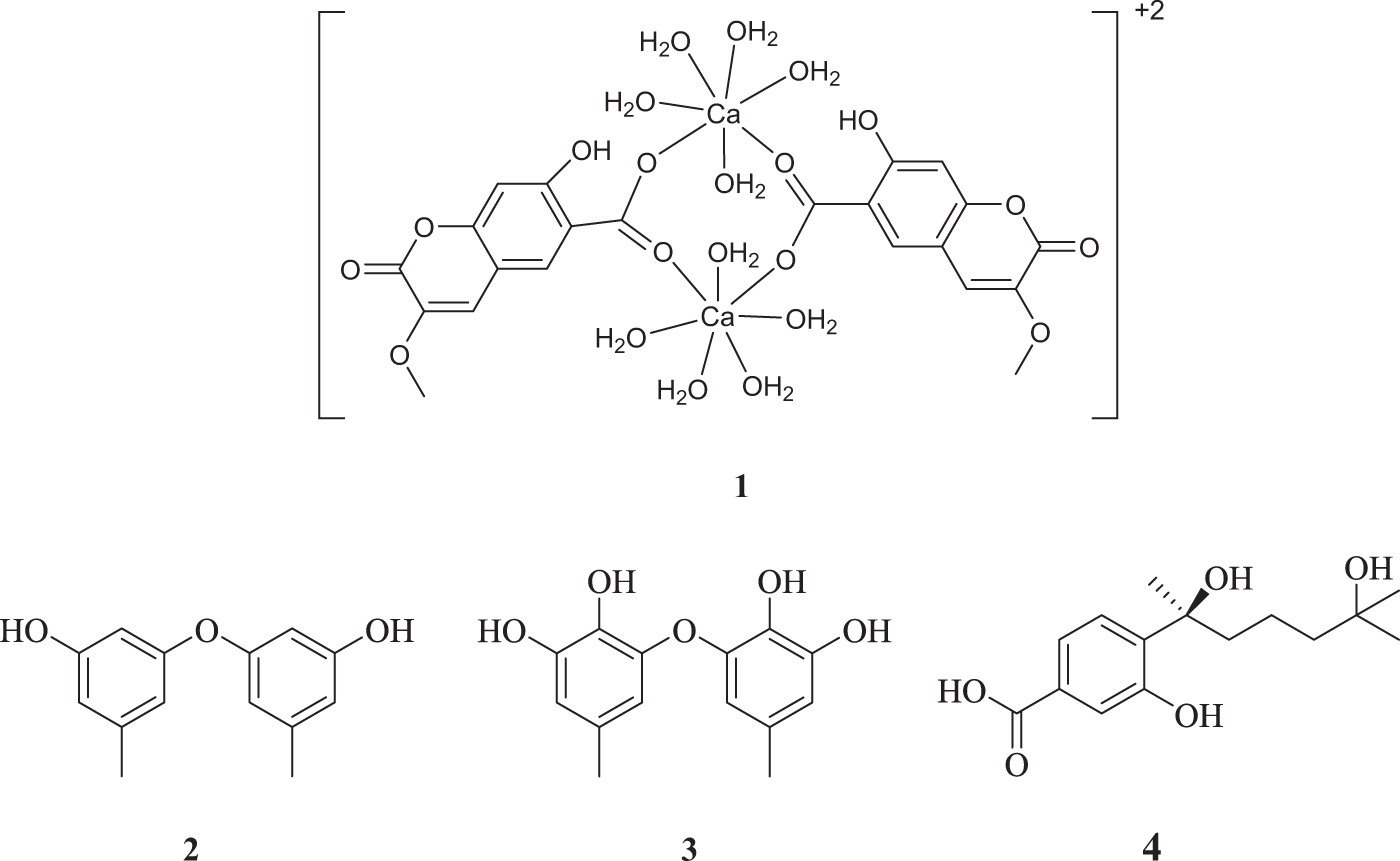 Coumamarin: a first coumarinyl calcium complex isolated from nature