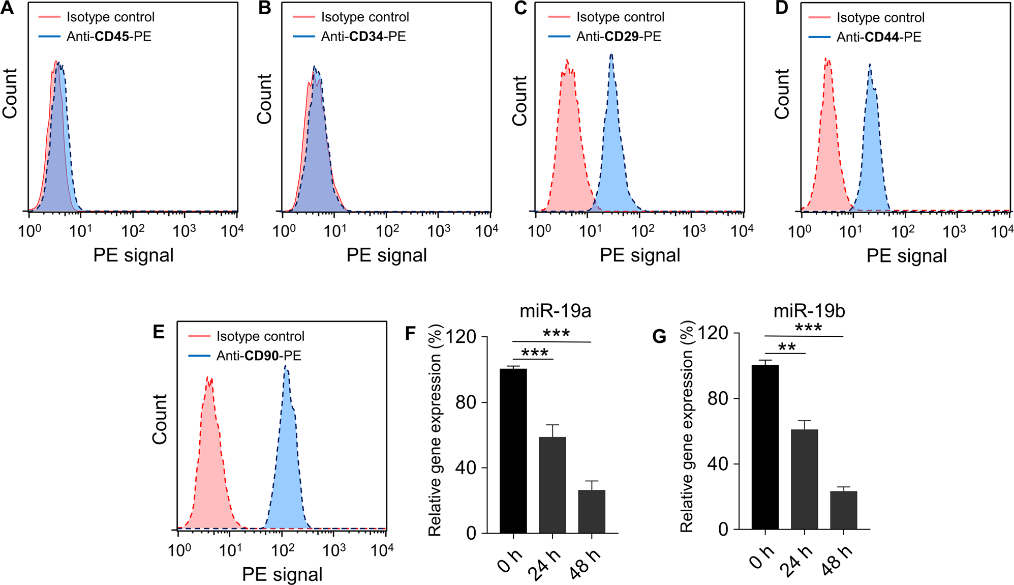 miR-19a/19b improves the therapeutic potential of mesenchymal stem cel