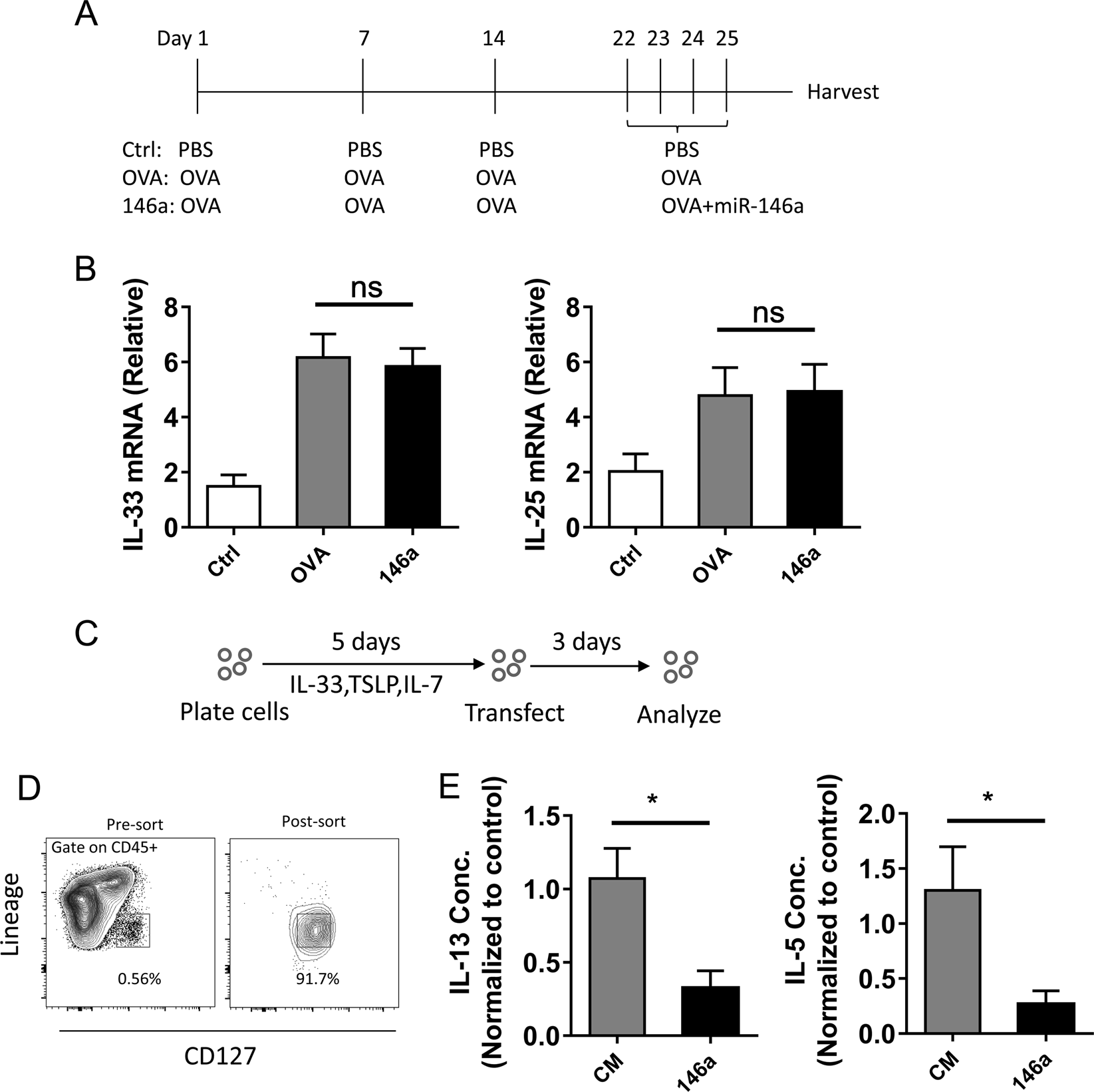 MicroRNA-146a negatively regulates IL-33 in activated group 2 innate l