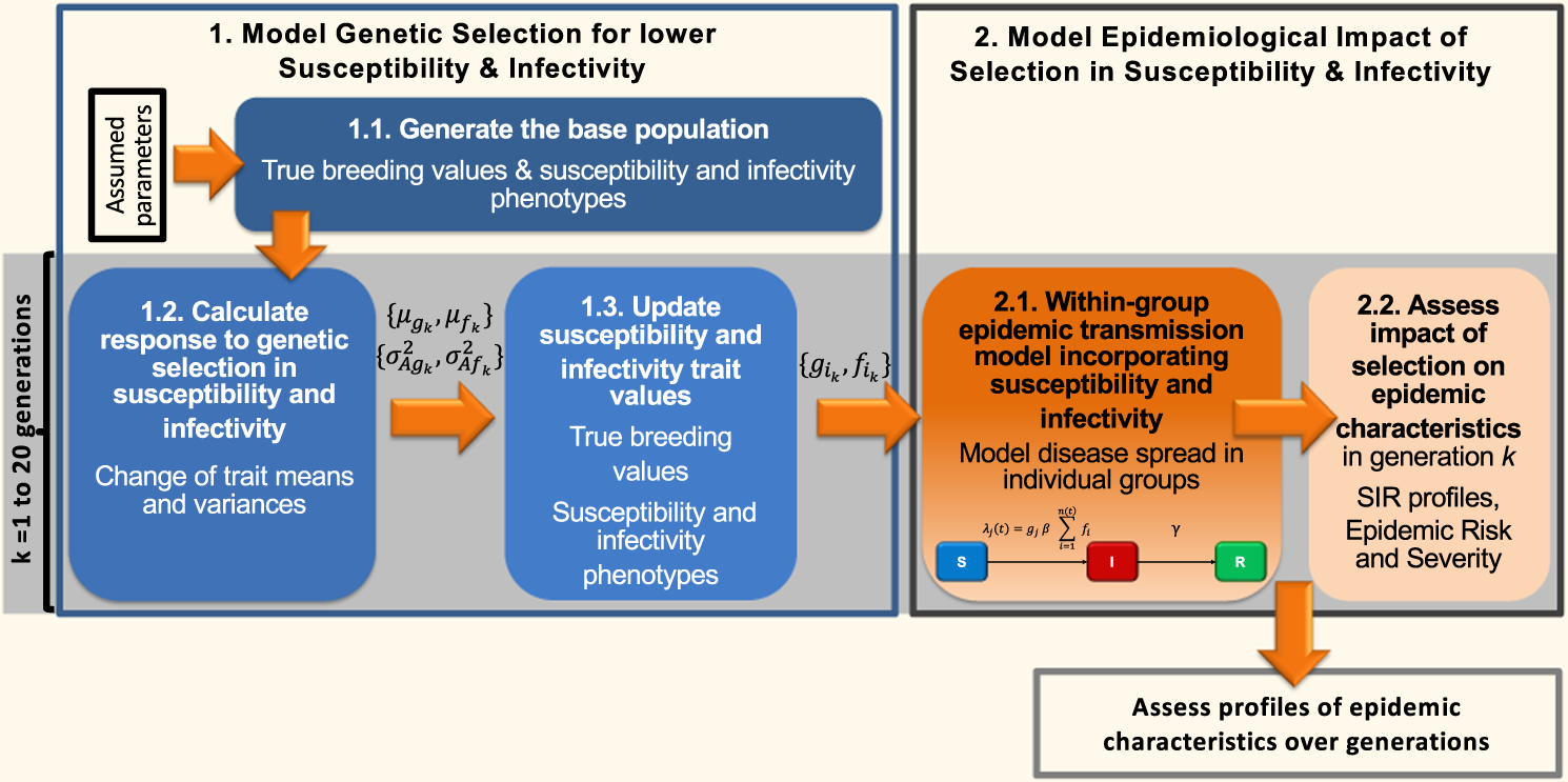 Enhancing genetic disease control by selecting for lower