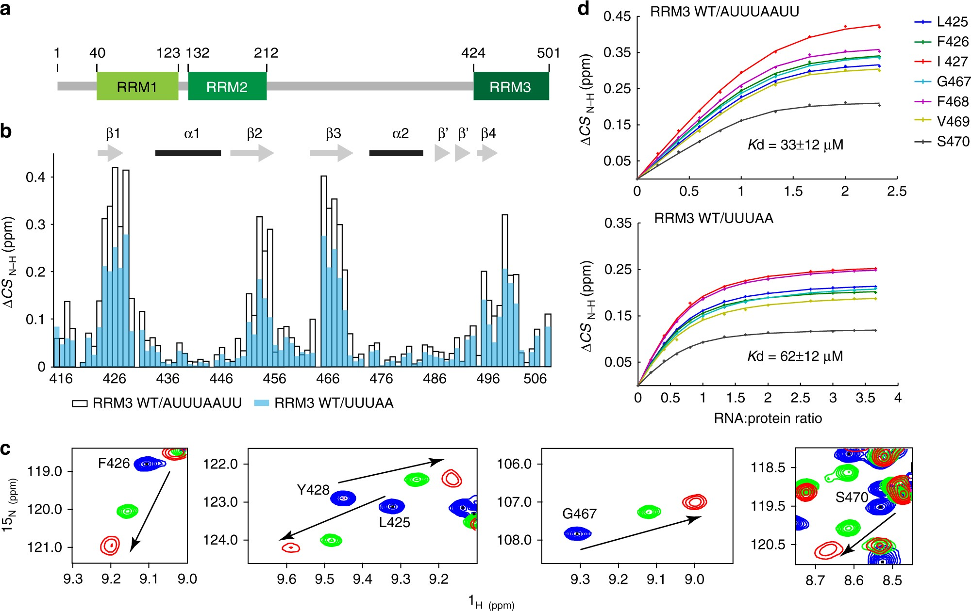 Aromatic Side Chain Conformational Switch On The Surface Of Rna Previously A Oneway Contains Two Terminals When Recognition Motif Enables Discrimination Nature Communications