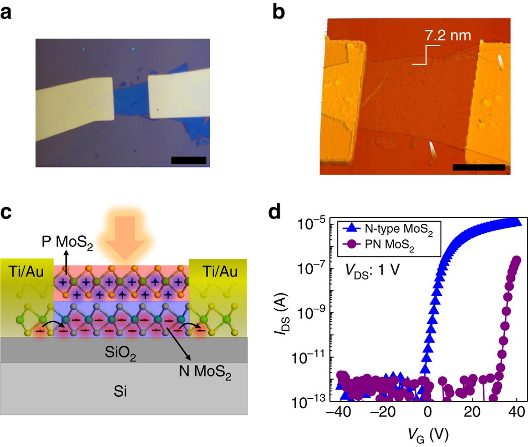 Ultrasensitive All 2d Mos 2 Phototransistors Enabled By An Out Of Figure 11 Illustrates A Diode Logic Circuit Which Can Provide The Plane Pn Homojunction Nature Communications