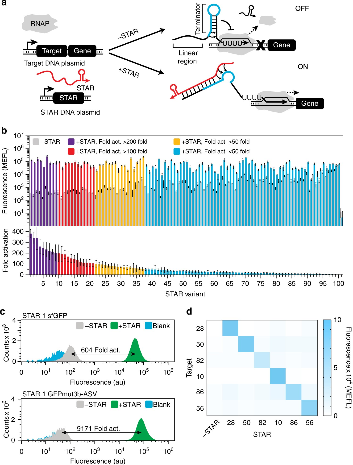 Computational Design Of Small Transcription Activating Rnas For Pool Cover Star Switch Wiring Diagram Versatile And Dynamic Gene Regulation Nature Communications