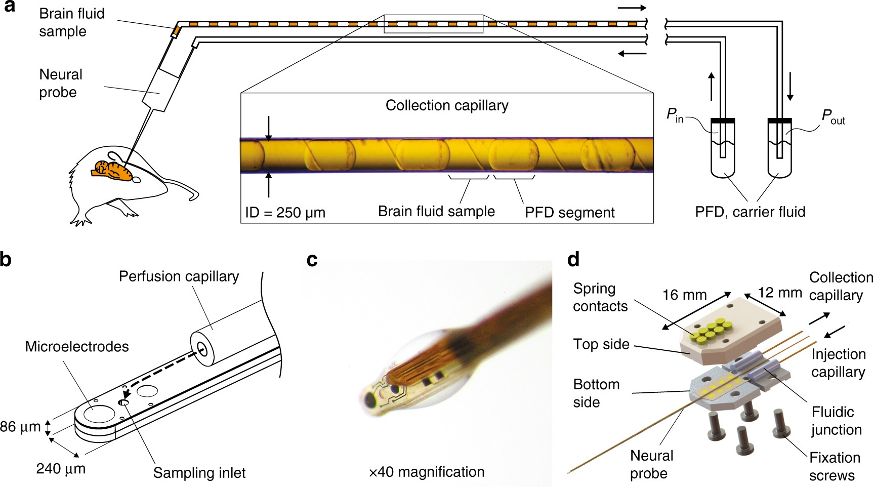 In Vivo Neurochemical Measurements Cerebral Tissues Using A Voltage Floating Regulator Here Is The Schematic Or Download It As Droplet Based Monitoring System Nature Communications