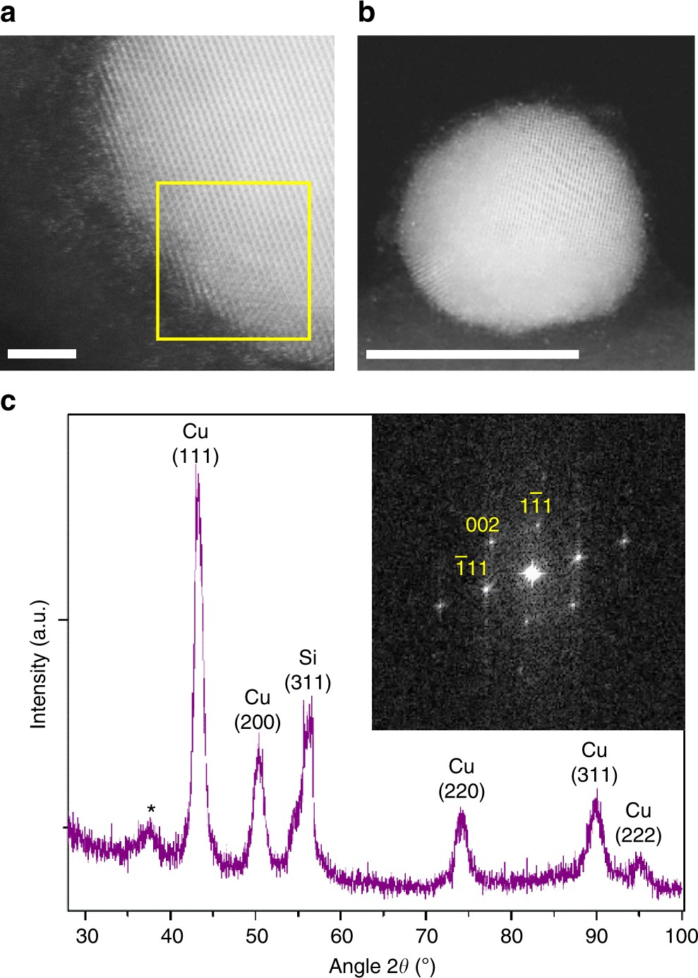 Retarding oxidation of copper nanoparticles without electrical