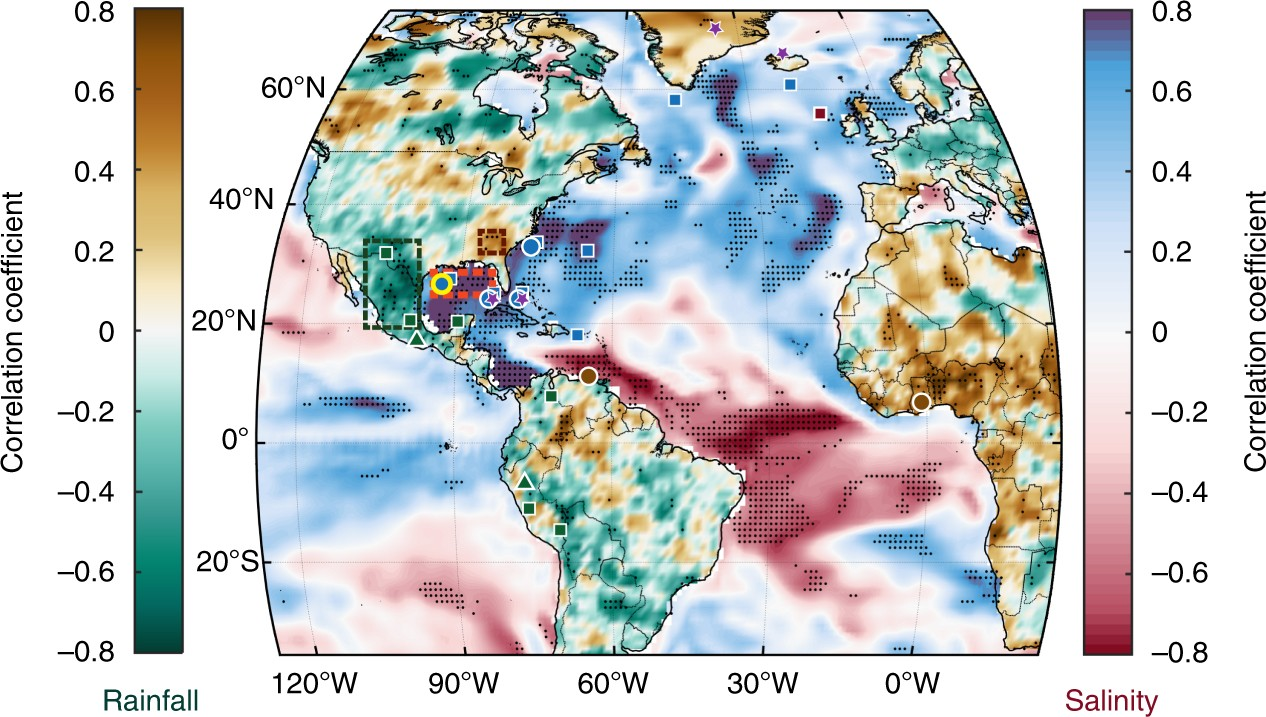 Pronounced Centennial Scale Atlantic Ocean Climate Variability Correlated  With Western Hemisphere Hydroclimate | Nature Communications