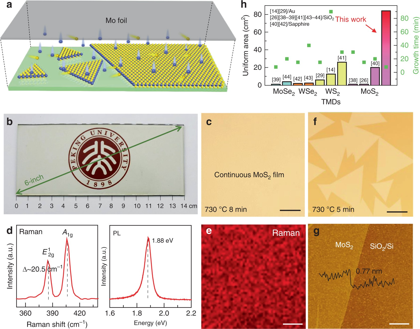 Batch Production Of 6 Inch Uniform Monolayer Molybdenum Disulfide Process Flow Diagram Glass Catalyzed By Sodium In Nature Communications