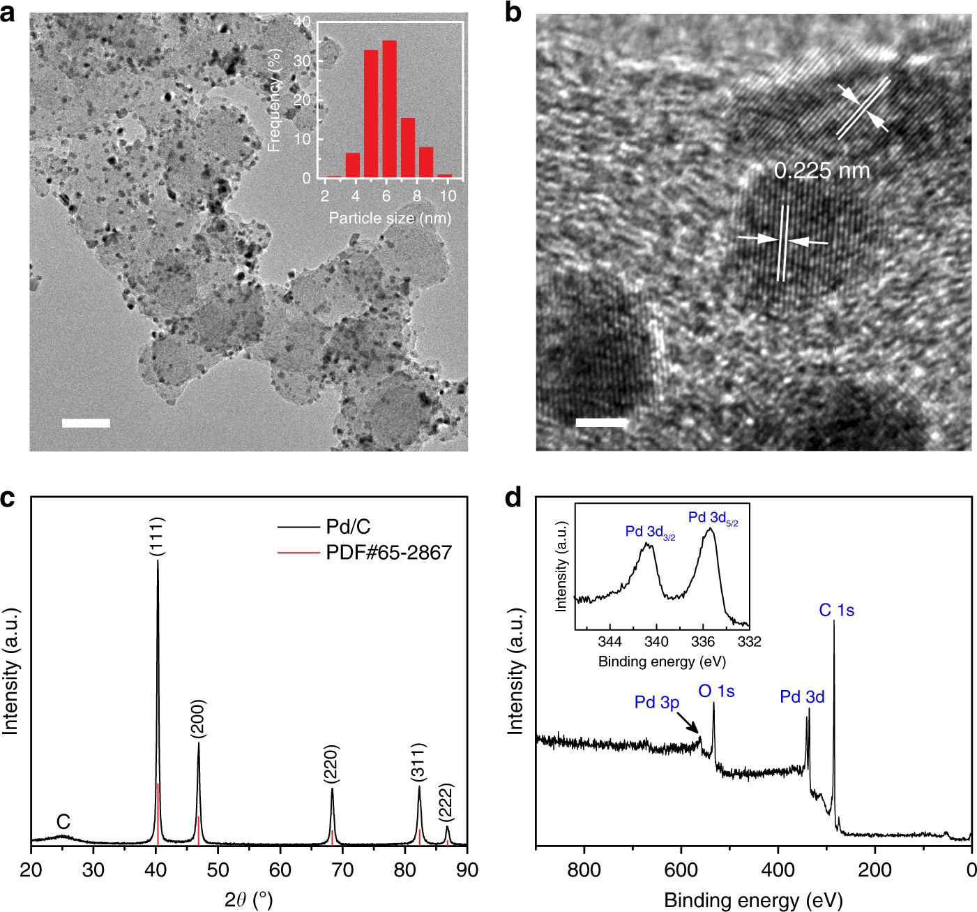 Ambient ammonia synthesis via palladium-catalyzed