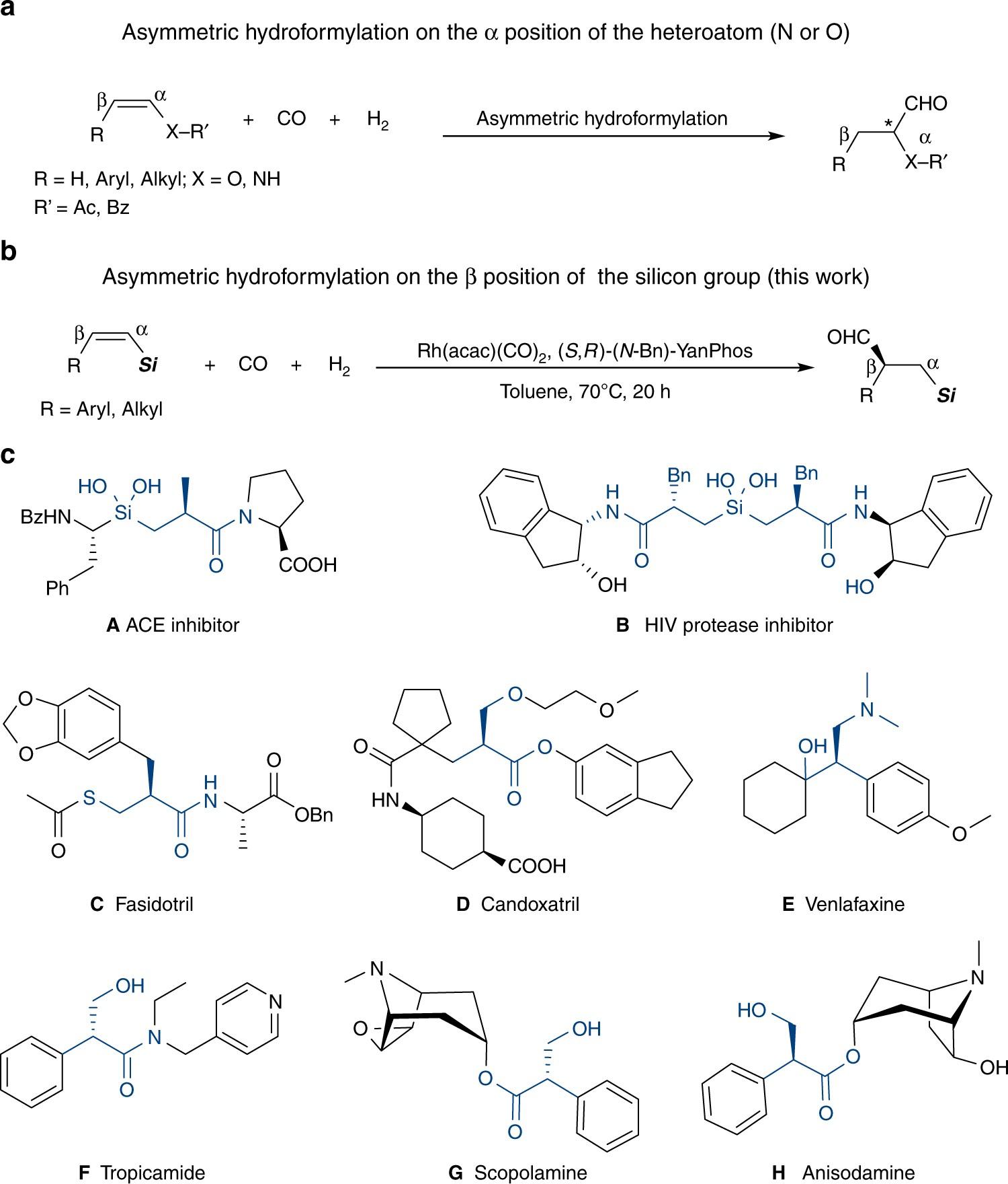Silicon-oriented regio- and enantioselective rhodium