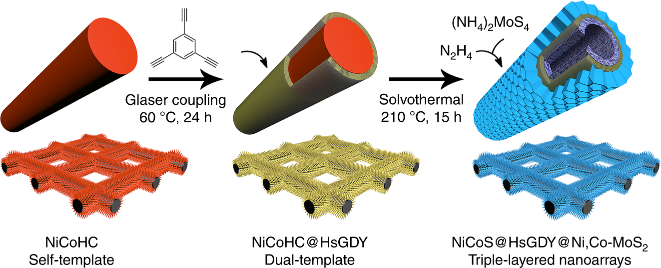Dual-template engineering of triple-layered nanoarray electrode of ...