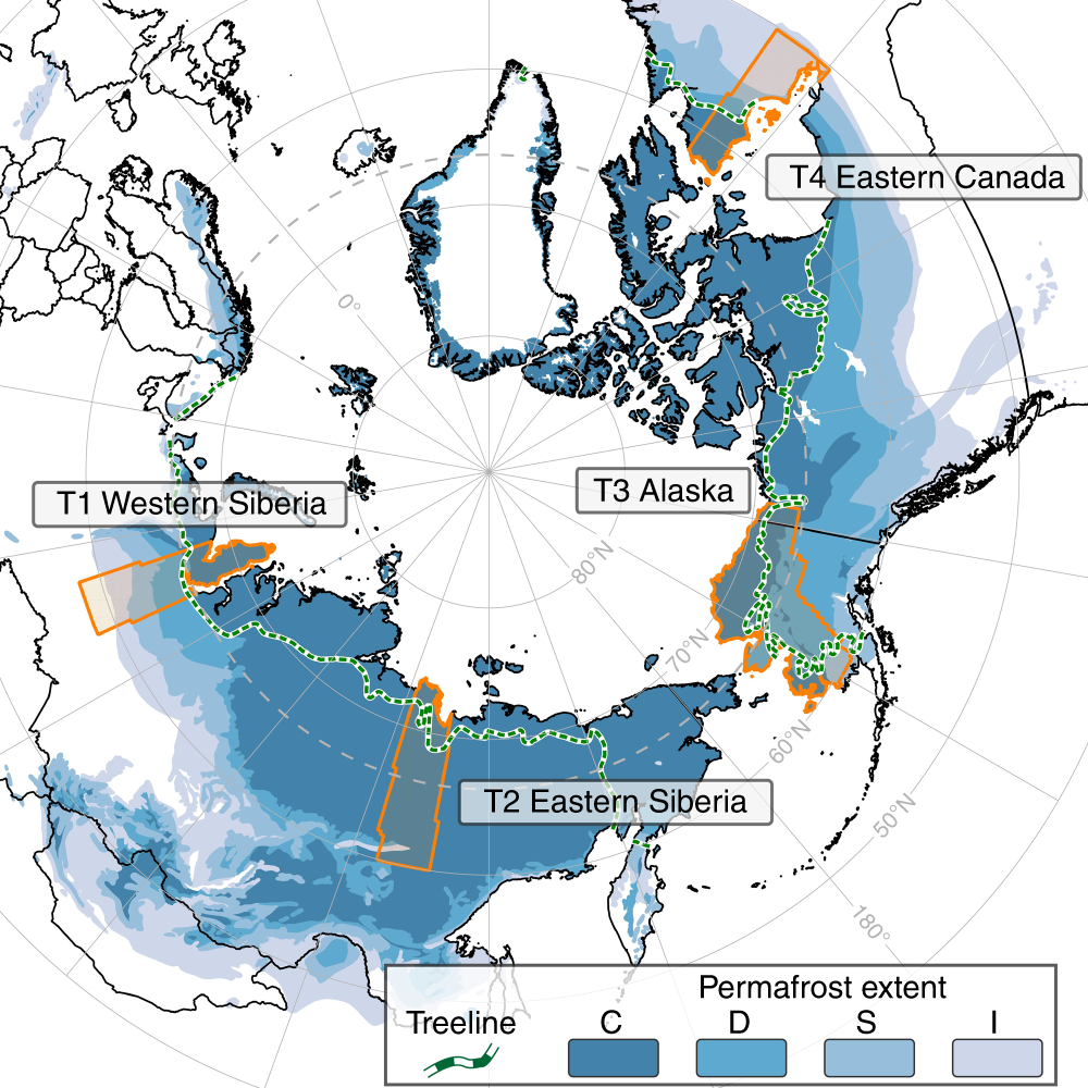 Remote sensing quantifies widespread abundance of permafrost region