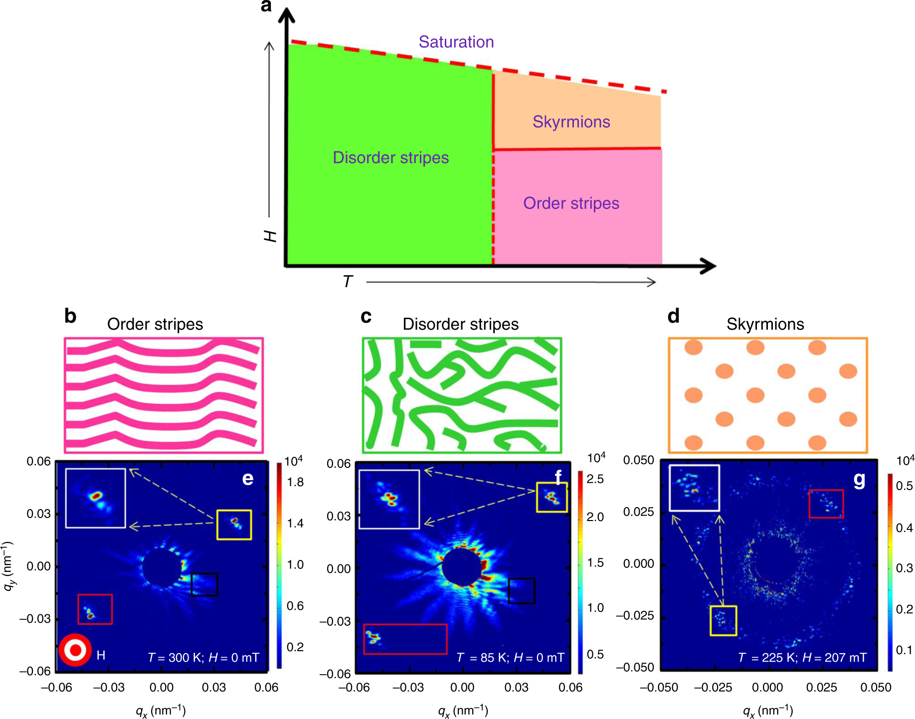 Scaling of domain cascades in stripe and skyrmion phases | Nature