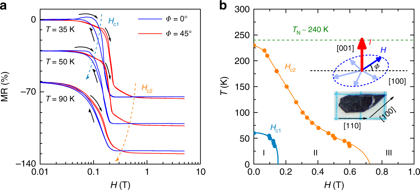 Giant anisotropic magnetoresistance and nonvolatile memory
