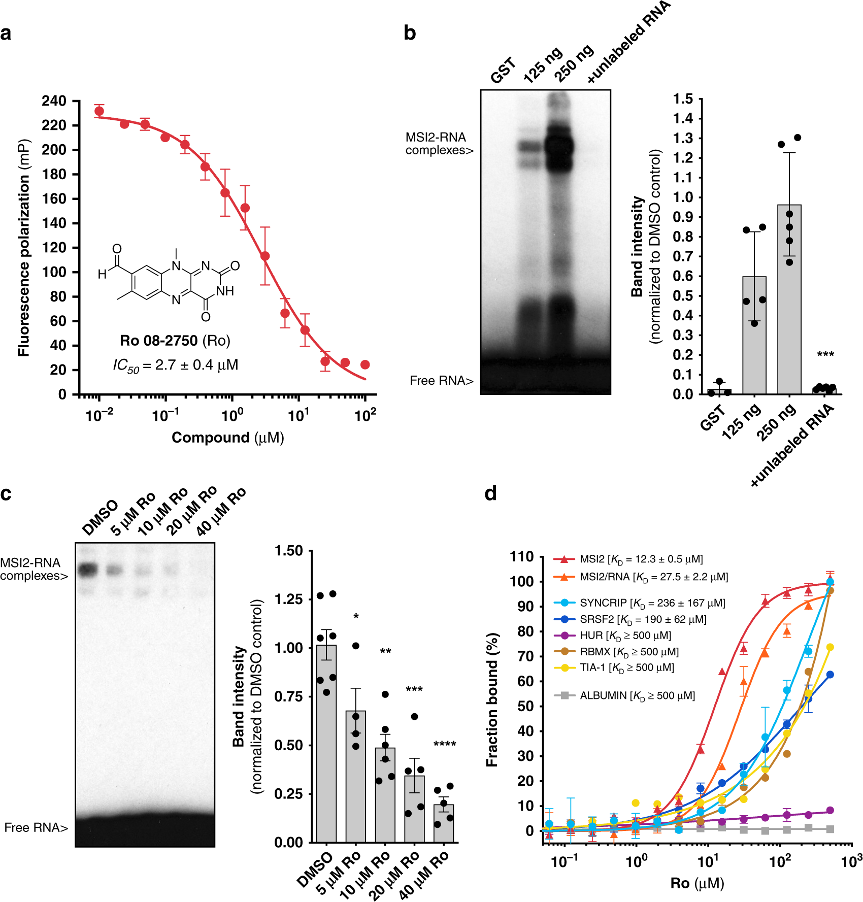 Small-molecule targeting of MUSASHI RNA-binding activity in acute