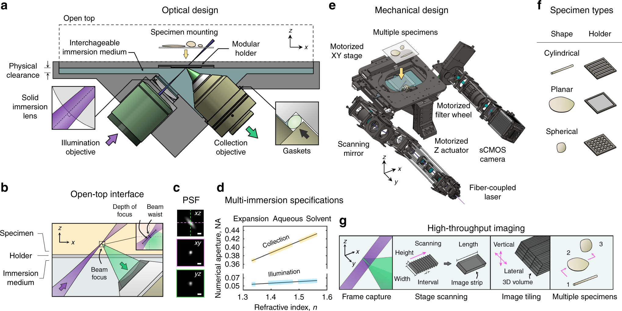 Multi-immersion open-top light-sheet microscope for high