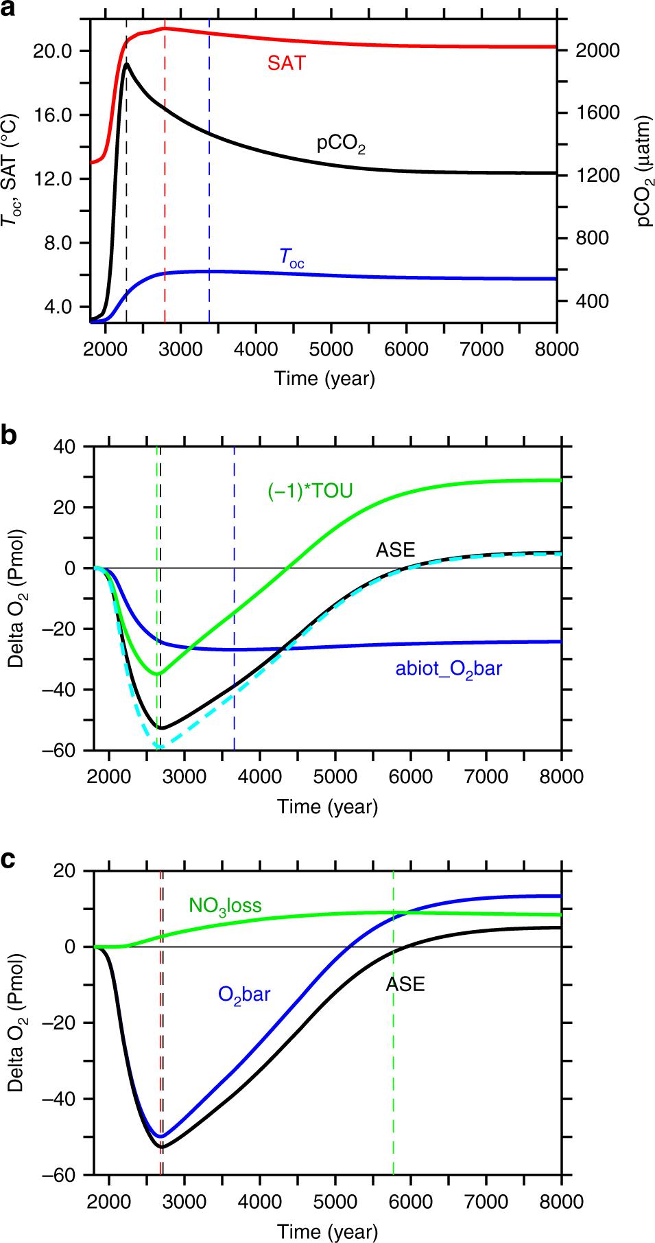Loss of fixed nitrogen causes net oxygen gain in a warmer future ocean