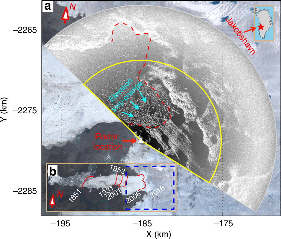 Rapid iceberg calving following removal of tightly packed pro
